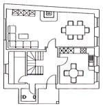Mosel Ferienhaus 4 - Grundriss - EG